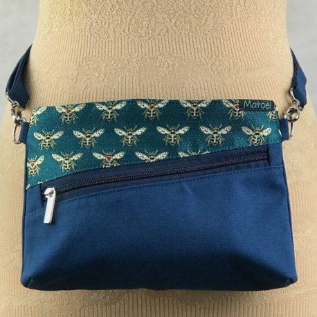 sac ceinture bleu