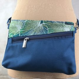 Pochette ceinture 3 en 1  bleu et jacquard Lotus