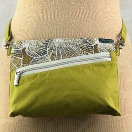 Pochette ceinture 3 en 1  lime et jacquard Lotus