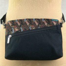 Pochette ceinture 3 en 1 noir et jacquard fantaisie