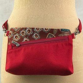 Pochette ceinture 3 en 1 rouge et jacquard Paradise