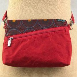 Pochette ceinture 3 en 1 rouge et jacquard